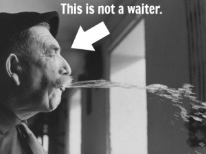Myth: waiters spit in food all the time.
