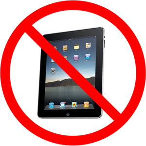 no more iPad