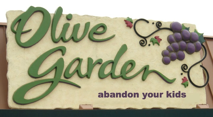 Olive garden promotes abandon your kids day the bitchy waiter for Does olive garden do reservations