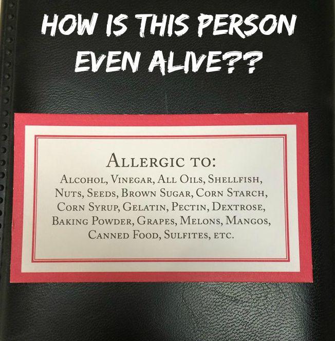 Dextrose allergies