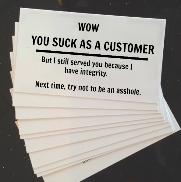asshole business cards